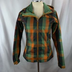 North Face Women's Jacket Sz XS Checkered Hooded